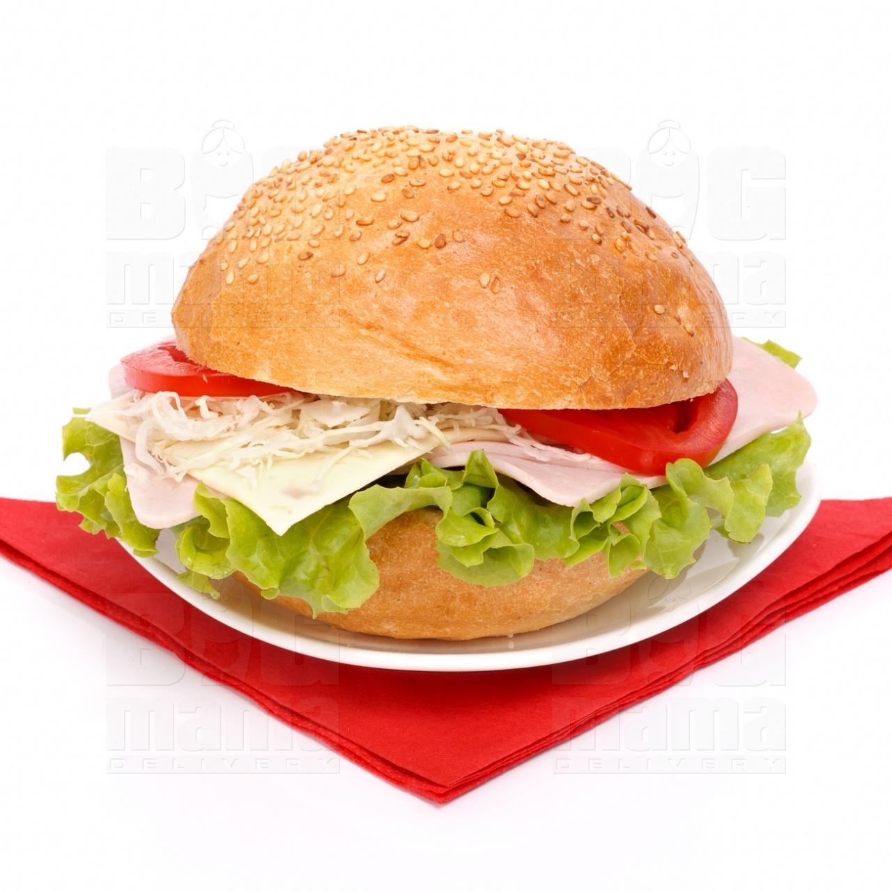 Product #62 image - Sandviş mare cu şuncă presată şi caşcaval